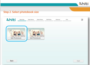 Choose your photobook size images