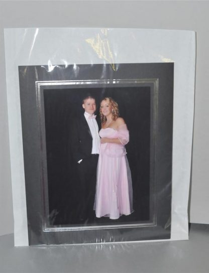 12x18 Clear Faced White Bags