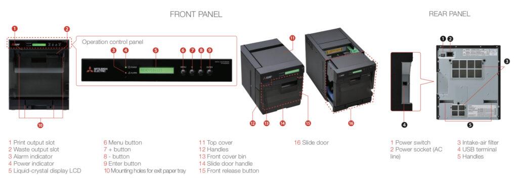 Mitsubishi W5000 Printer - Parts Illustration
