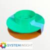 P510 Paper Spindles Green/Orange (USED)